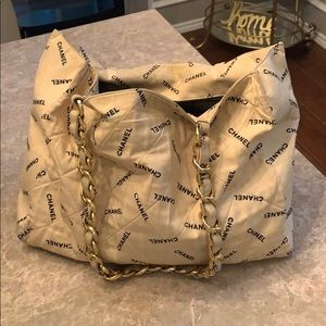 Distressed Chanel tote